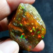 See Video 205 Cts Natural Aaa+welo Fire Ethiopian Opal Rough 40x36x30mmz203