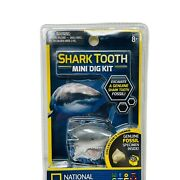 Shark Tooth Mini Dig Kit National Geographic Nwt Genuine Fossil Inside