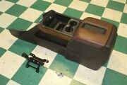 14-18 Gm Truck High Country Black Brown Floor Center Console Armrest Lid Leather