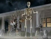 12 Foot Tall Giant Skeleton With Animated Lcd Eyes Halloween Prop In Hand