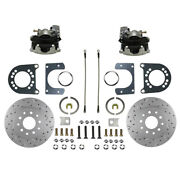 Rc0001x Leed Brakes Rear Disc Brake Kit With Drilled Rotors And Zinc Plated