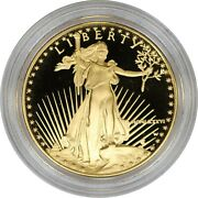 1986-w 50 1 Oz American Gold Eagle Proof Coin Capsule Only