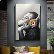 Abstract Animal Gorilla Canvas Oil Painting Print Picture Home Wall Art Decor