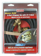59103 Camco 59103 Propane Brass Tee With 3 Port And 12' Hose