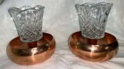 Coppercraft Guild Candle Holders Vintage Copper Round Taper Holder Usa - Pair