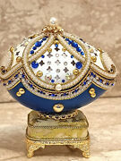 Faberge Egg And Faberge Egg Necklace Anniversary Gift For Wife 24k Gold Handmade