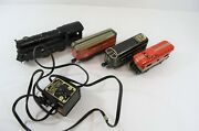 Marx Train Set Locomotive New York Central Caboose + Transformer As Is Lot