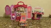 2014 Mattel Barbie Glam Getaway Fold N Go House, With Accessories-rare -