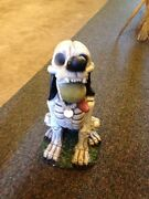Zombie Garden Gnome Dog Playing . Ball Halloween Prop Yard Outdoor Spooky 19