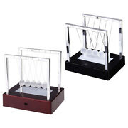 Newtons Cradle Glass Balance Balls Gadget Led Home Office Kids Adults Gifts