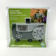 Orbit 56497 Three 3 Port Programmable Digital Easy To Use Watering Timer New