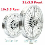 Fat Spoke Wheels Rims 21x3.5 16x3.5 For Harley Touring Electra Road Glide Bagger