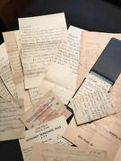 Lot Wwii Hand Written Journal Missions Documents Newspaper Letters