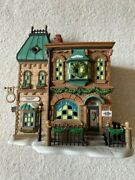 Dept. 56 Dickens' Village Series Thomas Mudge Timepieces 58307 Hand Painted New
