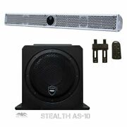 Wet Sounds Package White Stealth 10 Ultra Hd Sound Bar With Remote As-10 10 Sub