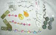 Vintage Lamp Chandelier Lot Of Crystal Prisms New Used Clear Jewelry Making