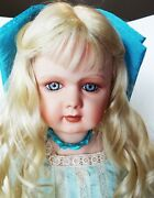 Antique Reproduction 30 In Tete Jumeau Dep Porcelain Doll Patricia Loveless New