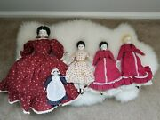 German Bisque Reproduction Dolls Ceramic And Porcelain Dolls 5 Doll Lot