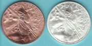 Robin Hood 1 Oz. Copper And Silver 2 Coin Set 1 In Medieval Legends Series