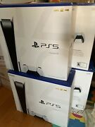 New Sony Playstation 5 Ps5 Console Disc Game Station😁 ✅ In Hand 📦 Free Ships