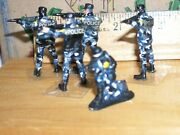 Arttista,lionel,flyer, Pewter Police Camo Swat Team Only Oands Scale Ex 1-1/4inch