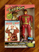 Funko Turbo Man Jingle All The Way Action Figure Special Bundle Pack W/ Dvd