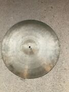 Vintage Antique K Zildjian And Co 20 Ride Cymbal Made In Turkey Istanbul 57 58 59