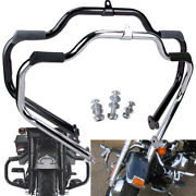 Front Mustache Engine Guard Crash Bar For Harley Touring Road King Electra Glide