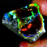 108.40ct Collectible Natural Multi Color Fire Ethiopian Opal Mineral Rough