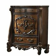 Traditional Wooden Chest With 5 Drawers And Scrolled Legs Brown