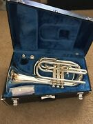 Yamaha Ybh-301m Silver Marching Baritone With Mouthpiece And Case Serial 575825