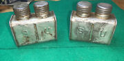 Mosin Nagant Steel Oil Bottle Two Chambers Marked Su Squared Edge Lot Of 2