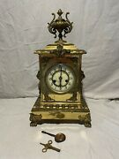 Extremely Rare Waterbury Brass Case Clock France