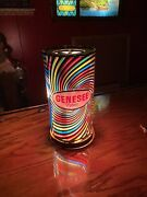 Nos Genesee Beer Heat Rotator Spinning Motion Light Psychedelic Sign
