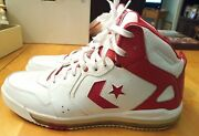 Converse Cons Evo White And Red High Tops Size 12 Only Worn For Couple Hours