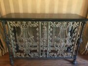 Antique French Architectural Iron/marble Console