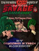 Doc Savage 1982 = Radio Green Ghost Punch = Poster Book 8 Sizes 18 - 3 Feet