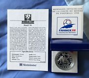 1998 France Football World Cup 98 10 Franc Silver Proof Coin, Brazil.