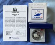 1997 France Football World Cup 98 10 Franc Silver Proof Coin, Italy.