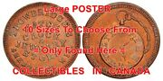 Trowbridgeand039s Watch Jewelry 1860and039s Sheboygan =poster Coin / Token 10sizes 17-7ft
