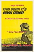 Easy Rider 1969 Peter Fonda This Year Itand039s = Movie Poster 10 Sizes 18 - 4.5 Ft