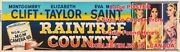 Raintree County 1957 Clift Taylor Saint =movie Poster 5 Sizes 4.8 - 12.3 Ft Long