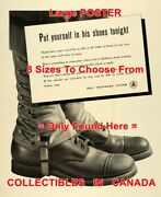 Army Boots 1941 Put Yourself In His Shoes Tonight Wwii = Poster 8 Sizes 17-3 Ft