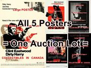 Dirty Harry 1971 - 1988 Cop .357 Magnum Gun = All 5 Posters 10 Sizes 17-4.5 Ft