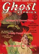 Ghost Stories 1929 41 Fatal Messenger = Poster Pulp Magazine 10 Sizes 17-4.5ft