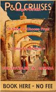 P And O Cruises 1930and039s Brick Walkway Arches = Travel Poster 10 Sizes 17 - 6 Feet