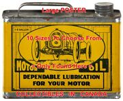 Dependable Lubrication 8 Old Race Car =poster Motor Oil Can 10 Sizes 17-4.5 Ft