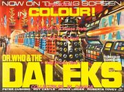 Dr. Who And The Daleks 1965 Robot Uk Sci-fi = Poster 10 Sizes 18 Up To 4.5 Feet