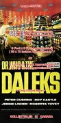Dr. Who And The Daleks 1965 Robot Sci-fi = Movie Poster 3 Sizes 4 Ft / 6 Ft / 7 Ft