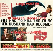 The Fly 1958 Once It Was Human Sci-fi = Movie Poster 10 Sizes 17 - 3.5 Feet